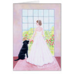 Bride and her Black Labrador Painting