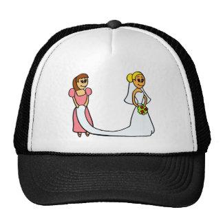 Bride and Maid of Honor Cartoon Cap