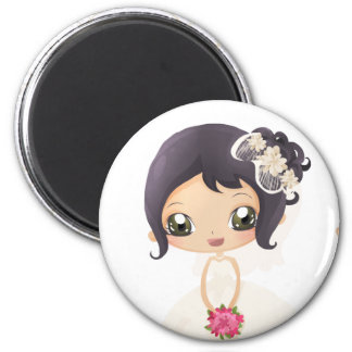 Bride and Maid of Honor 6 Cm Round Magnet