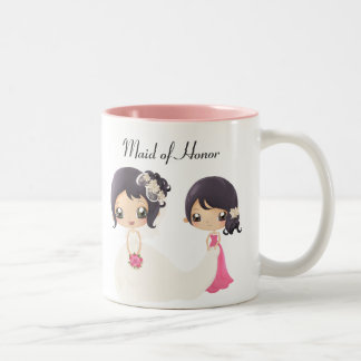 Bride and Maid of Honor Two-Tone Coffee Mug