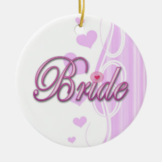bride bachelorette wedding bridal shower party christmas ornaments