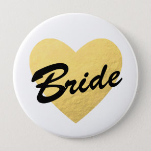 Bride Badge | gold heart | Bachelorette party