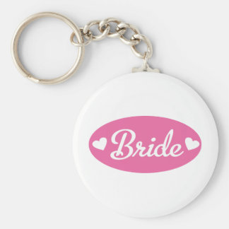 bride basic round button key ring