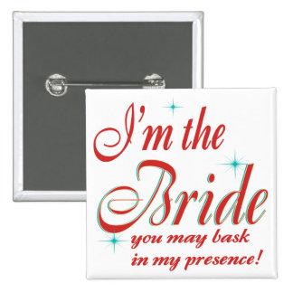 bride-bask in presence 15 cm square badge