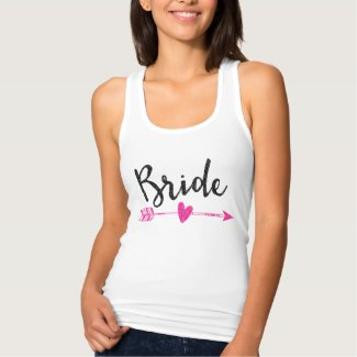 Bride Black and Pink Tank Top