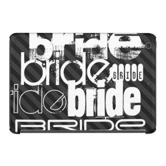 Bride; Black & Dark Gray Stripes iPad Mini Covers