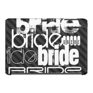 Bride; Black & Dark Gray Stripes iPad Mini Retina Covers