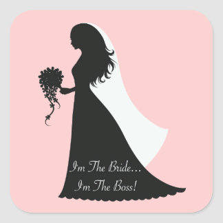 Bride Boss (p) Square Sticker