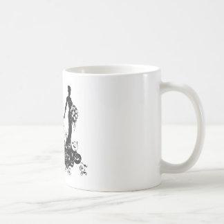 Bride Bouquet Wedding Silhouette Abstract Coffee Mug