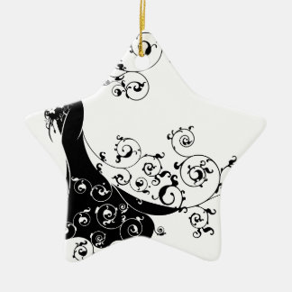 Bride Bouquet Wedding Silhouette Design Christmas Ornament