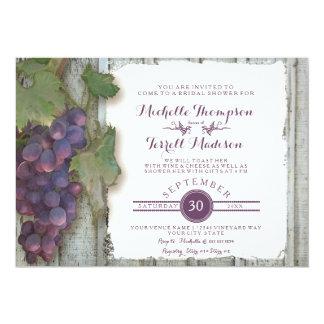 Bride Bridal Shower Rustic Country Wine Vineyard 13 Cm X 18 Cm Invitation Card