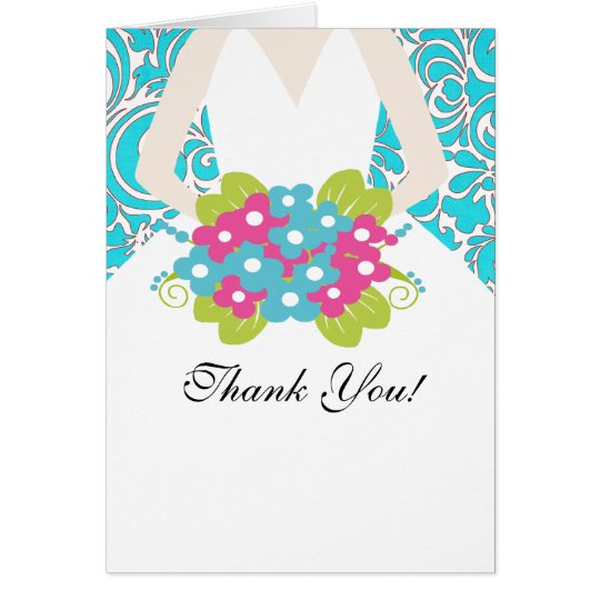 Bride Bridal Shower Thank You Note Card