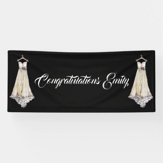 Bride Bridal Shower Wedding Dress Party Customise Banner