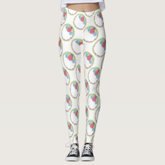 Bride Bridesmaid Bridal Wedding Cake Print Legging