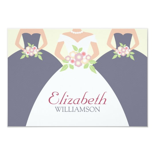 Bride & Bridesmaids Bridal Lunch Placecards Card