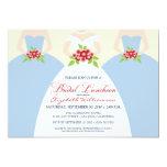 Bride & Bridesmaids Bridal Luncheon Invite (blue) 13 Cm X 18 Cm Invitation Card