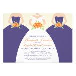 Bride & Bridesmaids Bridal Luncheon Invite: purple