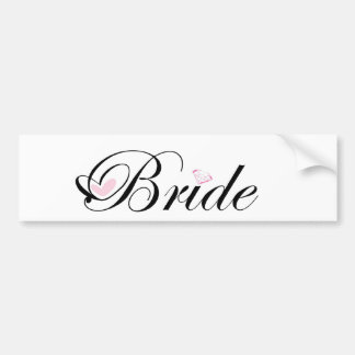 Bride Bumper Sticker