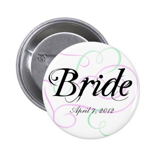 Bride Button Add Your Wedding Date
