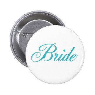 Bride Button in Aqua Blue