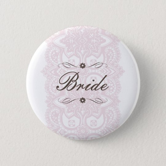 Bride Button-Vintage Bloom 6 Cm Round Badge