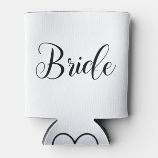 Bride Can Cooler with Customizable Initial