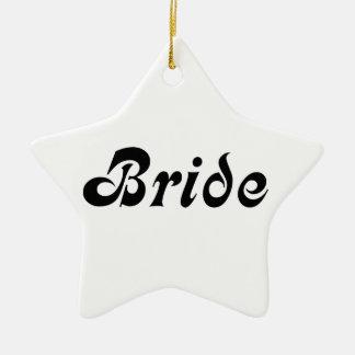 Bride Ceramic Star Decoration