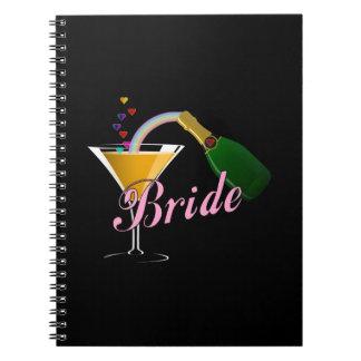 Bride Champagne Toast Bride Note Book