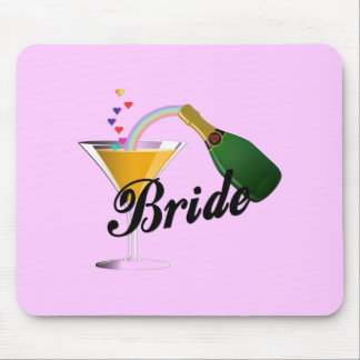 Bride Champagne Toast Mouse Mat