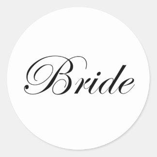 Bride Classic Round Sticker