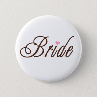 Bride Classy Browns 6 Cm Round Badge