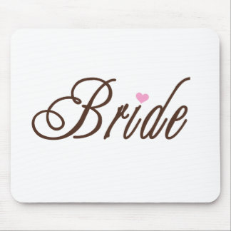 Bride Classy Browns Mouse Mat
