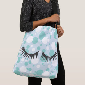 BRIDE & CO. Blue And White Polka-Dot Tote Bag