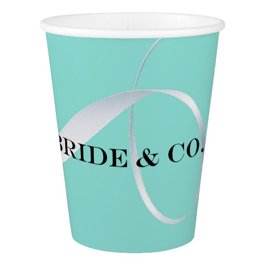 BRIDE & CO. Blue Tiffany Ribbon Party Paper Cups