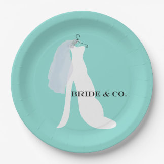 BRIDE & CO Here Comes The Bride Party Paper Plates
