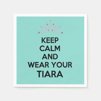 BRIDE & CO Keep Calm Wear Your Tiara Party Napkins Disposable Napkin