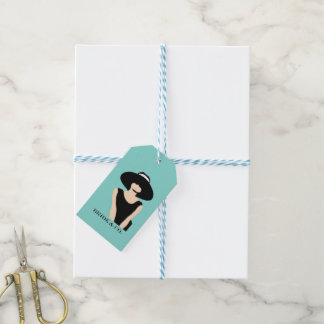 BRIDE & CO Shower Lady And Hat Party Gift Tags