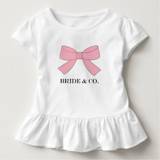 BRIDE & CO Shower Pink Baby Party Ruffle Tee
