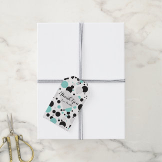 BRIDE & CO Silver Heart Polka Dot Party Gift Tags