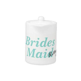 BRIDE & CO Teal Blue Bridesmaid Party Teapot