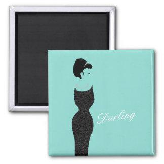 BRIDE & CO Teal Blue Little Black Dress Magnet