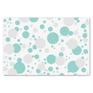 BRIDE & CO Teal Blue Polka Dot Party Tissue Paper