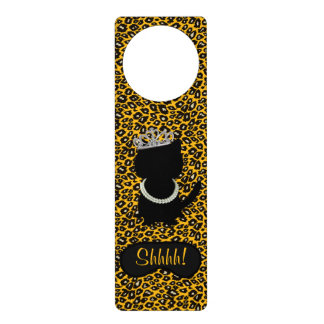 BRIDE & CO. Tiara Cat Shhhh! Door Hanger