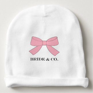 """BRIDE & CO. Tiffany Bow Baby Beanie Hat"