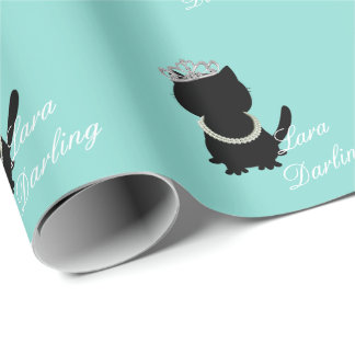 BRIDE & CO Tiffany Cat Personalized Gift Wrap
