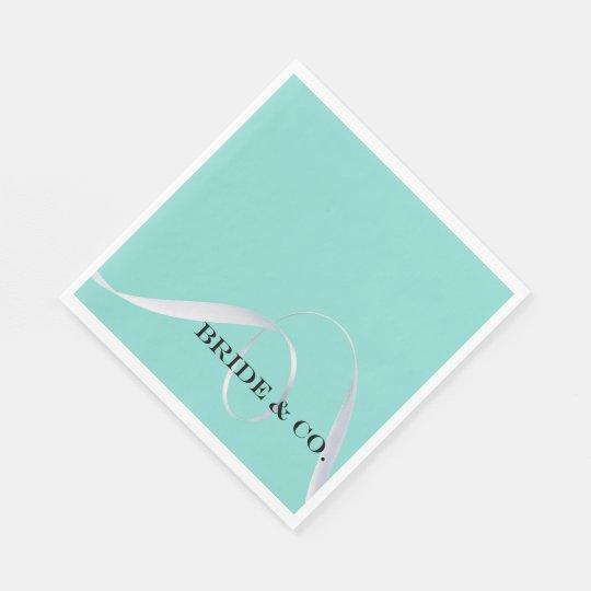 BRIDE & CO. Tiffany Ribbon Luncheon Napkins Disposable Serviettes