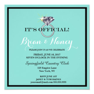 BRIDE & CO Wedding Suite Engagement Party Card
