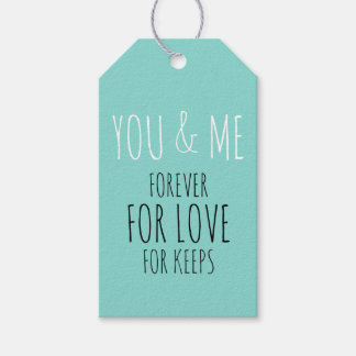 BRIDE & CO You And Me Forever Party Gift Tags