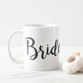 Bride Coffee Mug Minimalistic Bridal Gift - Black