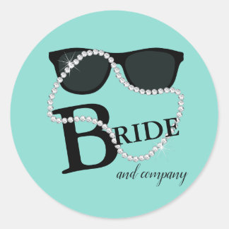 Bride & Company Diamond Tiara Party Stickers